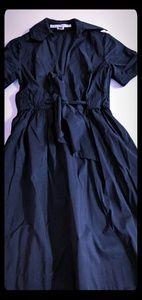 Navy Belted Diane von Furstenberg Tea Dress
